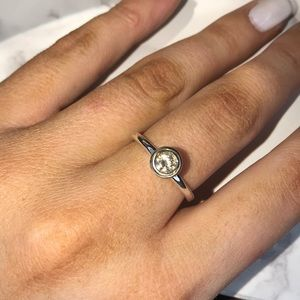 Pandora Cz and gold ring size 8